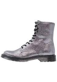 zalando womens boots uk steve madden hastel lace up boots metallic grey zalando co uk