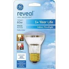 ge reveal halogen 60 watt par16 floodlight 1 pack walmart com
