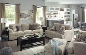 benchcraft barrish contemporary sofa with flared arms wayside