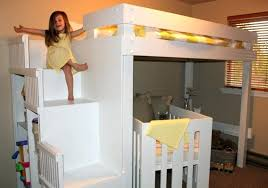unique kids beds beautiful wooden bunk with desk furniture bedroom