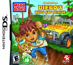 diego mega bloks build u0026 rescue ds game