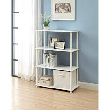 White Storage Bookcase by Storage Cube Shelves Amazoncom Better Homes And Gardens 4cube