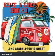 surf car vector illustration surf car drawing stock vector 284008940