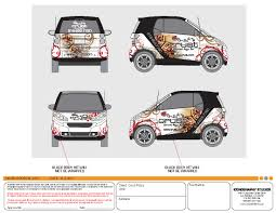 custom smart car wrap design by iconography vehicle wrap designs