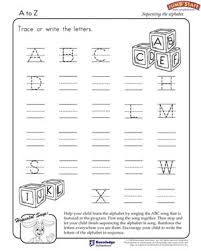writing the alphabet worksheets free to z printable english