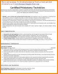 6 phlebotomy resume templates address example