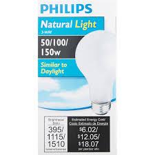 light bulbs most like natural light philips natural light a21 incandescent 3 way light bulb 476028