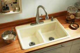 kohler deerfield kitchen sink double equal basin sink smart divide