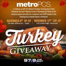 win big this thanksgiving with metropcs 97 9 the beat