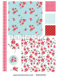 Shabby Chic Rose by Vintage Shabby Chic Rose Seamless Patterns Stock Vector 90840509