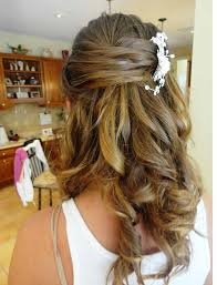 half up half down wedding hair half up half down hairstyle for