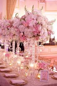 Wedding Centerpieces With Crystals by This Grand Centerpiece Is A Definite Crowd Pleaser The Tall Vase
