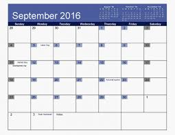 september 2016 calendar printable and monthly pdf word excel