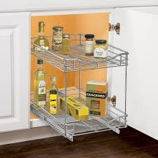 under cabinet storage shelf lynk lynk professional roll out double shelf pull out two tier
