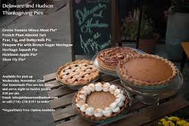 delaware and hudson on our thanksgiving pies available