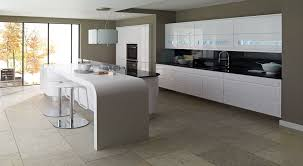 Gloss Kitchen Cabinets by Remo Handleless Lacquered Gloss White