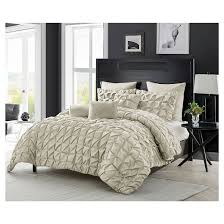 Pinched Duvet Cover Madison Pinch Pleat Multiple Piece Comforter Set Vcny Target