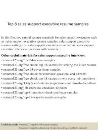 resume examples sales top8salessupportexecutiveresumesamples 150514020523 lva1 app6891 thumbnail 4 jpg cb 1431569171