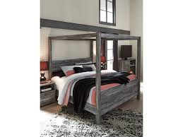 Canopy Bedding Signature Design By Baystorm King Canopy Bed In Gray Finish