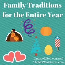 family traditions for the entire year the initiative