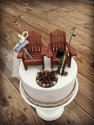 camo cake toppers rustic fishing wedding cake toppers wedding cake topper cabin