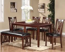 chicago furniture cherry dining set with bench