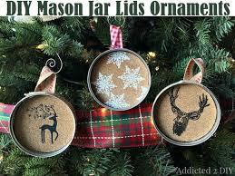 diy jar lids ornaments diy amazing ideas