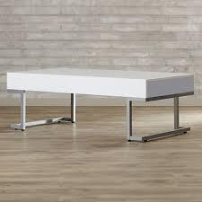 Illuminating Coffee Table Amazon Com Vida Modern Coffee Table White Finish Rectangle