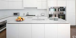 gray kitchen cabinets with white marble countertops 17 kitchens with classic marble countertops architectural