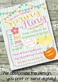 spring festival spring fling 5x7 invite 8 5x11 flyer 11x14