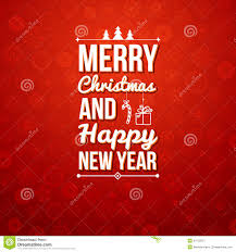 merry and happy new year card stock vector illustration