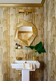 glitter wallpaper bathroom gold wallpaper bathroom elegant modern bathroom ideas home