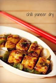 Chinese Main Dish Recipe - chilli paneer dry recipe how to make dry chilli paneer recipe