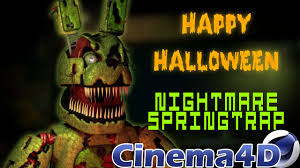 hallowen download cinema4d nightmare springtrap download original character