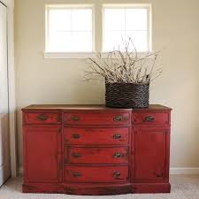 Red Oak Bedroom Furniture by Best 25 Red Painted Furniture Ideas On Pinterest Red Painted