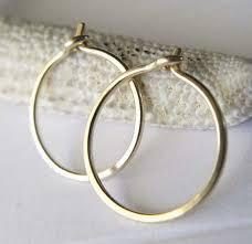 gold sleeper earrings tiny 14k or 18k gold sleeper hoop earrings made in usa