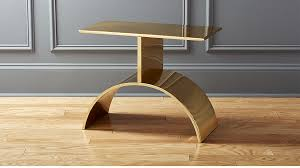 Gold Side Table Curve Gold Side Table In Side Tables Reviews Cb2