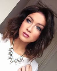 soft brunette ombre longbob makeup of the day pinterest