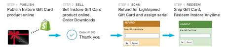 selling gift cards online lightspeed retail selling instore gift cards online accumula