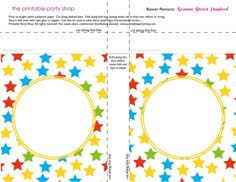 printable banners templates free banner squares big dots sesame