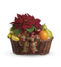 fruit gifts fruit and poinsettia basket t135 1a 47 66