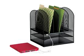 Safco Desk Organizer by Amazon Com Safco Products 3233bl Onyx Mesh Powered Charging