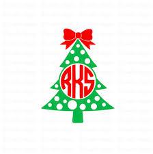 monogram christmas christmas tree monogram christmas tree svg christmas svg