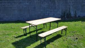 Trestle Table Bench 6 Foot Wooden Trestle Table Bench Set