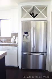 8 best fridge ideas images on pinterest kitchen kitchen ideas custom wine rack above fridge ask anna