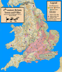 A Map Of England by Historical Maps Of The British Isles