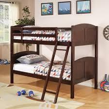 Tomboy Bedroom Tomboy Twin Bunk Bed In Cappuccino Kids Bedroom Furniture