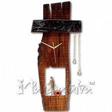 buy oversized wooden rustic wall clock online in india panchatatva