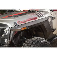 jeep body armor rugged ridge 11615 01 xhd front armor fenders pair 07 17 jeep