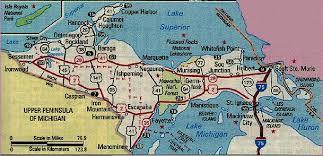 up michigan map map of michigan peninsula my